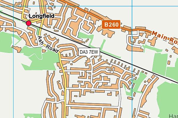 DA3 7EW map - OS VectorMap District (Ordnance Survey)