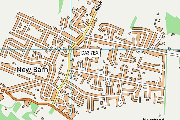 DA3 7EX map - OS VectorMap District (Ordnance Survey)