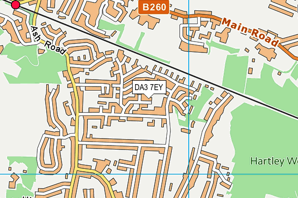 DA3 7EY map - OS VectorMap District (Ordnance Survey)