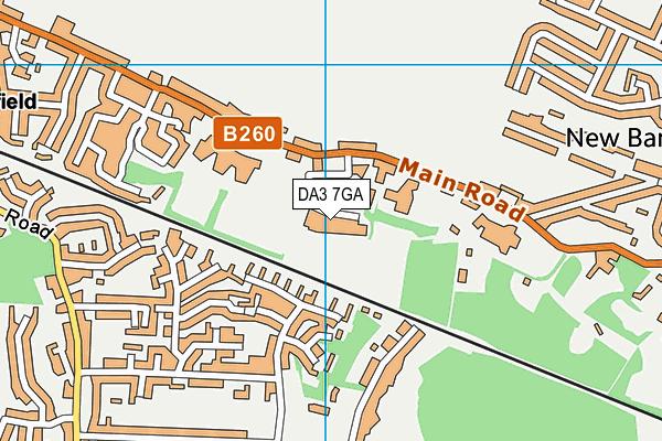 DA3 7GA map - OS VectorMap District (Ordnance Survey)