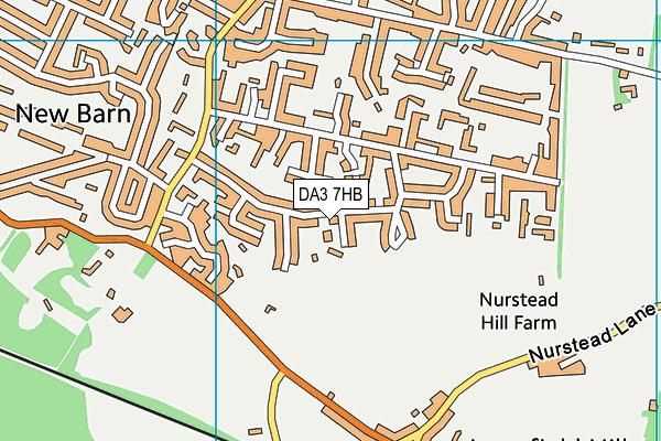 DA3 7HB map - OS VectorMap District (Ordnance Survey)