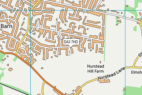 DA3 7HD map - OS VectorMap District (Ordnance Survey)