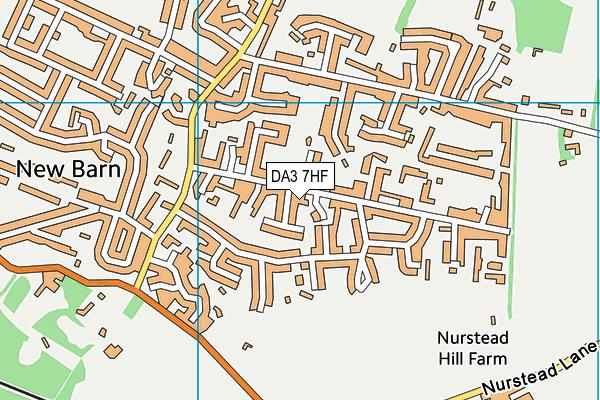 DA3 7HF map - OS VectorMap District (Ordnance Survey)