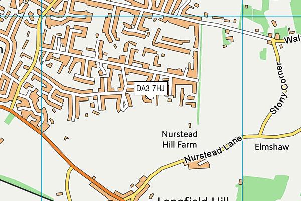 DA3 7HJ map - OS VectorMap District (Ordnance Survey)