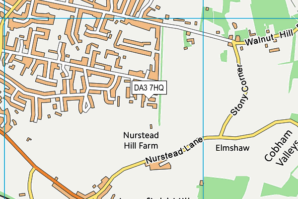 DA3 7HQ map - OS VectorMap District (Ordnance Survey)
