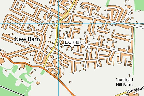 DA3 7HU map - OS VectorMap District (Ordnance Survey)