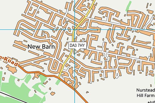 DA3 7HY map - OS VectorMap District (Ordnance Survey)
