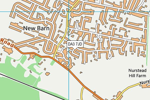 DA3 7JD map - OS VectorMap District (Ordnance Survey)