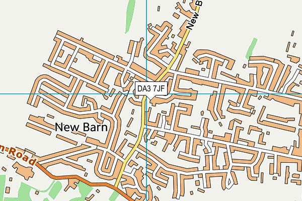 DA3 7JF map - OS VectorMap District (Ordnance Survey)