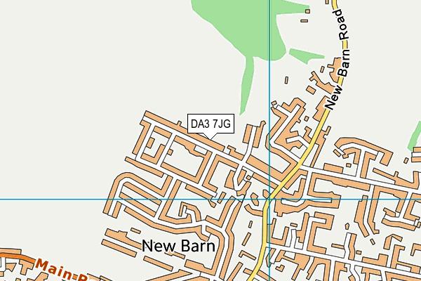 DA3 7JG map - OS VectorMap District (Ordnance Survey)