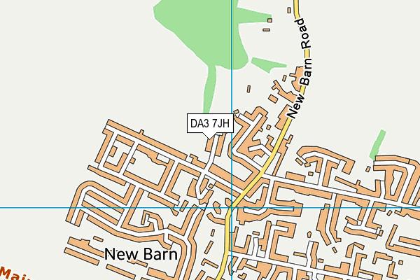 DA3 7JH map - OS VectorMap District (Ordnance Survey)