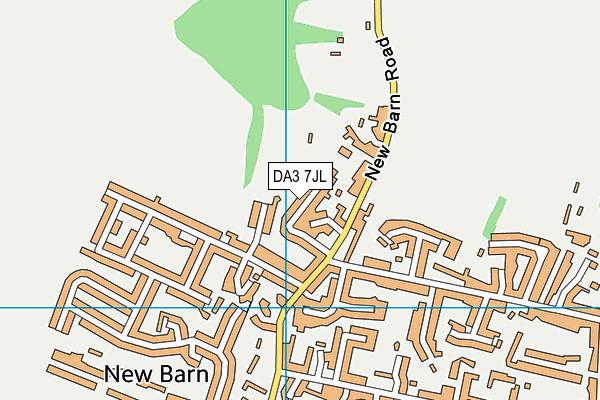 DA3 7JL map - OS VectorMap District (Ordnance Survey)