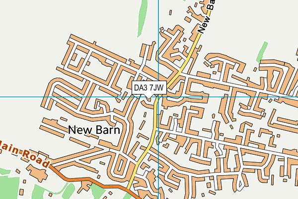 DA3 7JW map - OS VectorMap District (Ordnance Survey)