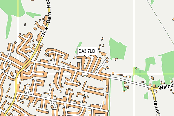 DA3 7LD map - OS VectorMap District (Ordnance Survey)