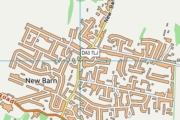 DA3 7LJ map - OS VectorMap District (Ordnance Survey)