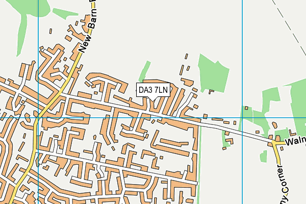 DA3 7LN map - OS VectorMap District (Ordnance Survey)