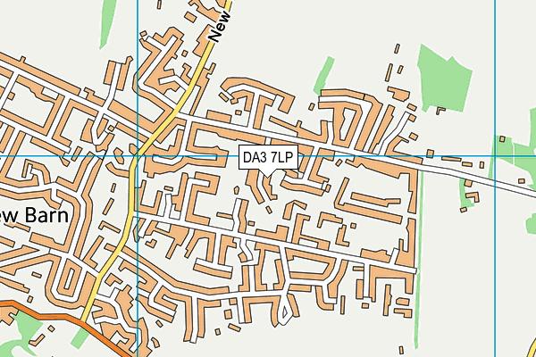 DA3 7LP map - OS VectorMap District (Ordnance Survey)