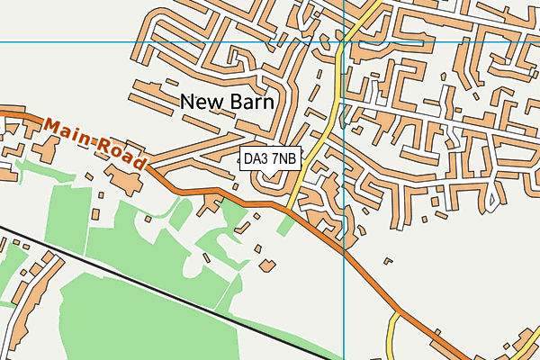 DA3 7NB map - OS VectorMap District (Ordnance Survey)
