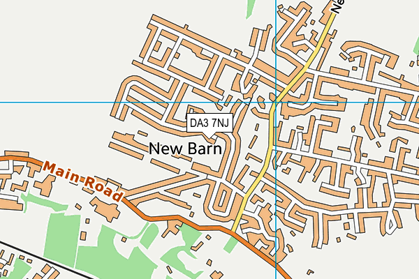 DA3 7NJ map - OS VectorMap District (Ordnance Survey)