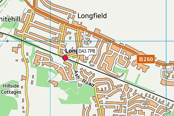 DA3 7PB map - OS VectorMap District (Ordnance Survey)