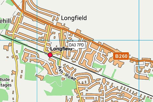 DA3 7PD map - OS VectorMap District (Ordnance Survey)