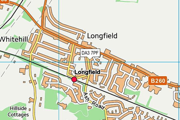 DA3 7PF map - OS VectorMap District (Ordnance Survey)