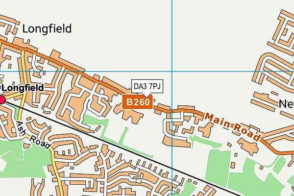 DA3 7PJ map - OS VectorMap District (Ordnance Survey)