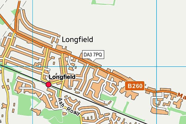 DA3 7PQ map - OS VectorMap District (Ordnance Survey)