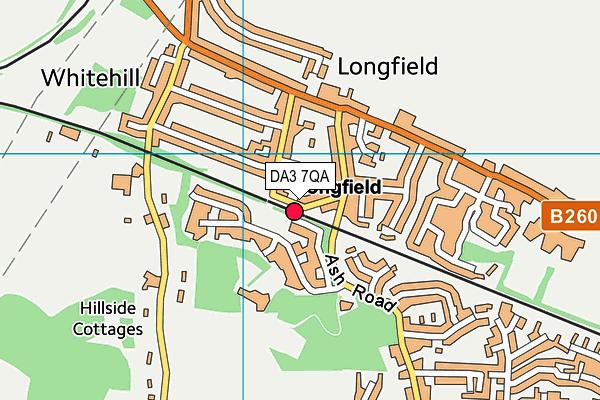 DA3 7QA map - OS VectorMap District (Ordnance Survey)