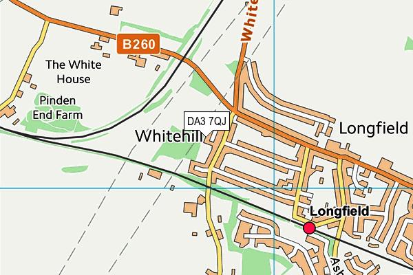 DA3 7QJ map - OS VectorMap District (Ordnance Survey)