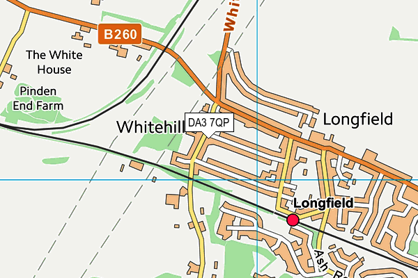 DA3 7QP map - OS VectorMap District (Ordnance Survey)