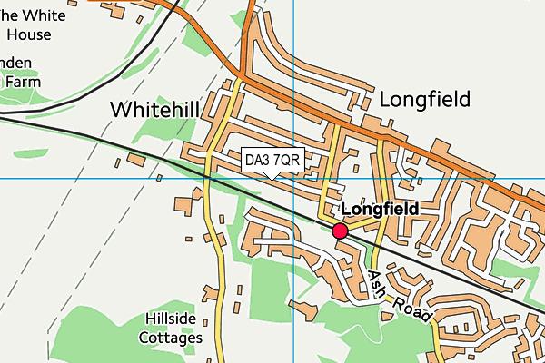 DA3 7QR map - OS VectorMap District (Ordnance Survey)