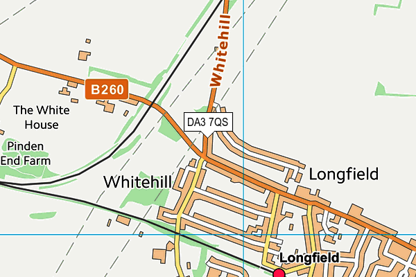 DA3 7QS map - OS VectorMap District (Ordnance Survey)