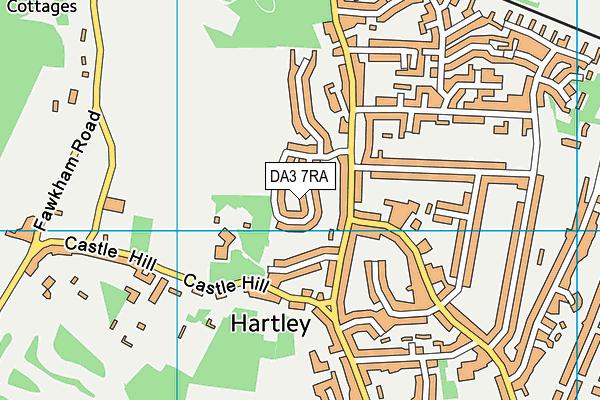DA3 7RA map - OS VectorMap District (Ordnance Survey)