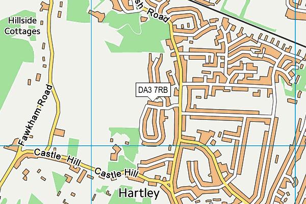 DA3 7RB map - OS VectorMap District (Ordnance Survey)