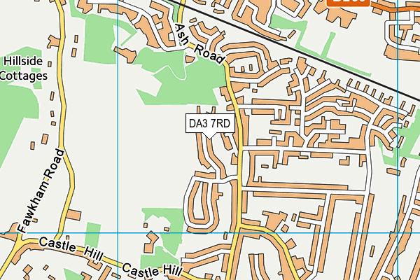 DA3 7RD map - OS VectorMap District (Ordnance Survey)