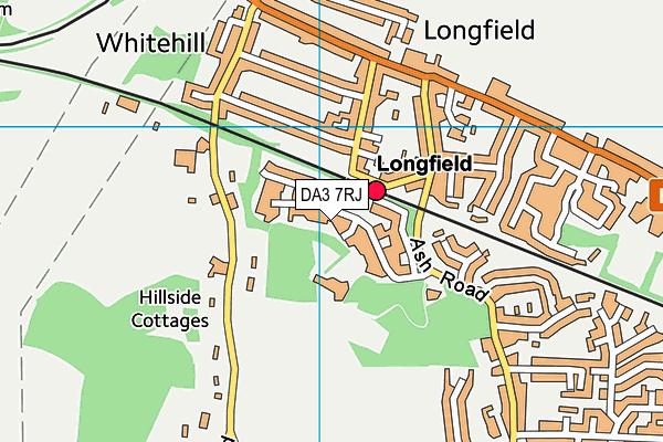DA3 7RJ map - OS VectorMap District (Ordnance Survey)