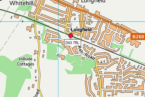 DA3 7RL map - OS VectorMap District (Ordnance Survey)
