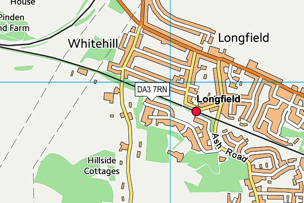 DA3 7RN map - OS VectorMap District (Ordnance Survey)