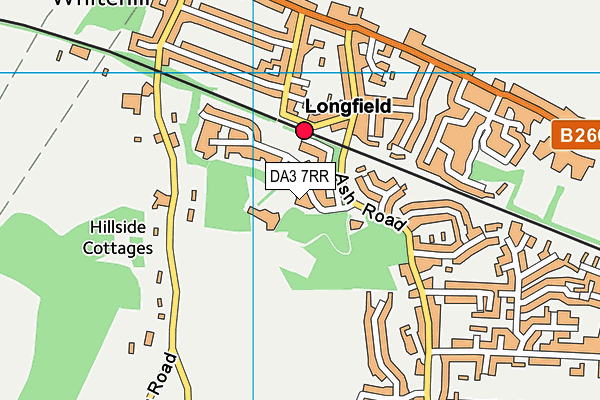DA3 7RR map - OS VectorMap District (Ordnance Survey)