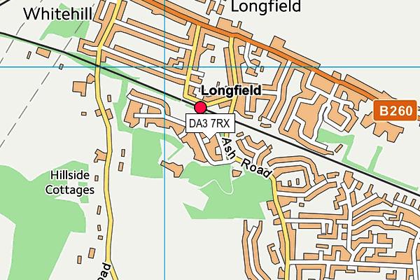 DA3 7RX map - OS VectorMap District (Ordnance Survey)