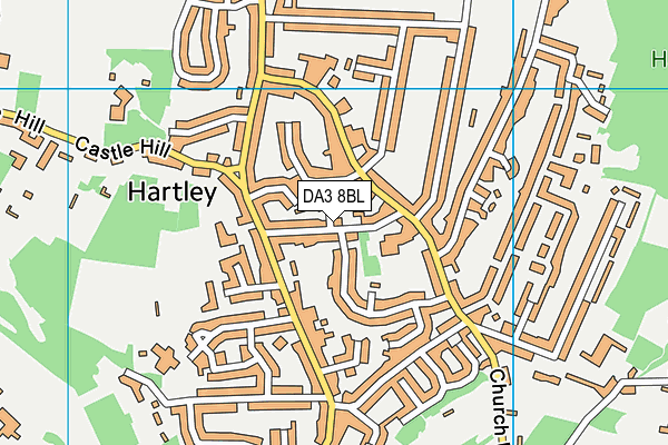 Our Lady of Hartley Catholic Primary School, Hartley, Longfield map (DA3 8BL) - OS VectorMap District (Ordnance Survey)