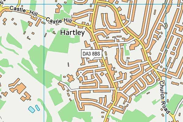 Hartley Country Club map (DA3 8BS) - OS VectorMap District (Ordnance Survey)