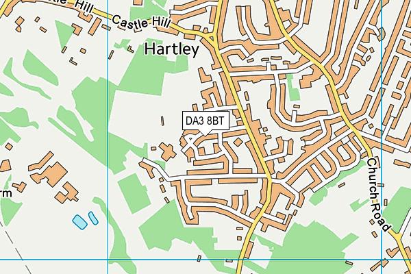 Hartley Primary Academy map (DA3 8BT) - OS VectorMap District (Ordnance Survey)