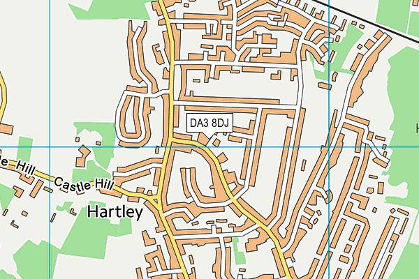 DA3 8DJ map - OS VectorMap District (Ordnance Survey)
