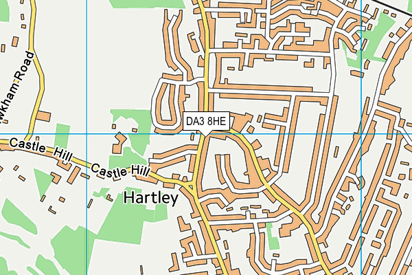 DA3 8HE map - OS VectorMap District (Ordnance Survey)