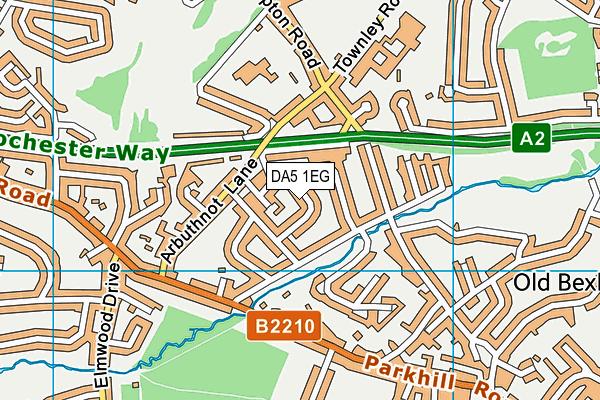 DA5 1EG map - OS VectorMap District (Ordnance Survey)