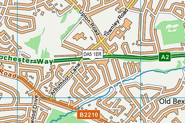 DA5 1ER map - OS VectorMap District (Ordnance Survey)