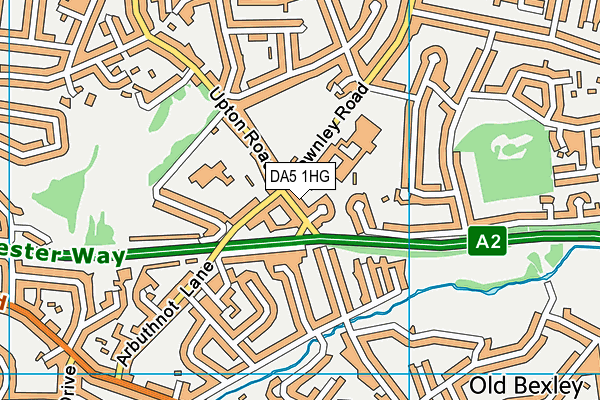 DA5 1HG map - OS VectorMap District (Ordnance Survey)