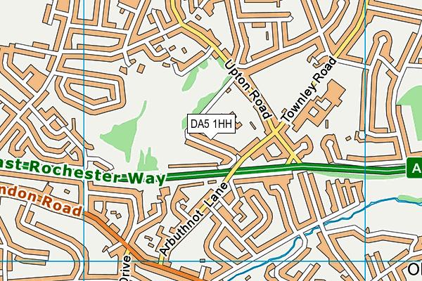 DA5 1HH map - OS VectorMap District (Ordnance Survey)
